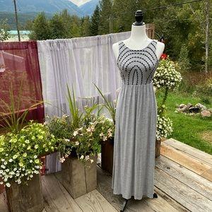 Olive + Oak embroidered maxi dress